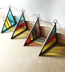 striped stained glass ornament home decor lighting debbie