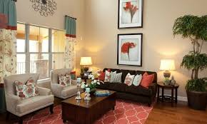 living room color schemes with brown furniture cream microfiber