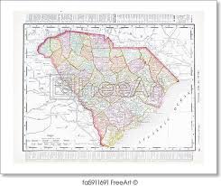 map of sc free print of antique map of south carolina sc united states
