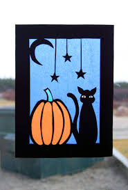 halloween construction paper stained glass by belleteacher on