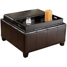 Leather Coffee Table Storage Simpli Home Avalon Coffee Table Storage Ottoman W 4
