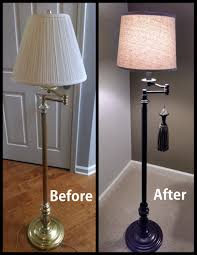 floor lamp makeover lampshade and rustoleum oil rubbed bronze