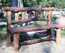 bench excellent rustic wooden stone garden benches intended for