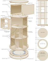 rotating bookshelf plans plans diy free download how to build a