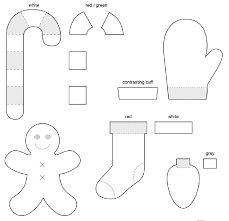 free felt patterns for ornaments