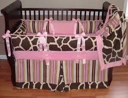 Walnut Nursery Furniture Sets by Baby Nursery Fabulous Brown Giraffe Baby Bedding Set Along With