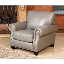 Overstock Armchair Abbyson Landon Top Grain Leather Armchair Free Shipping Today