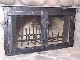 Outdoor Fireplace Accessories - wrought iron fireplace doors door designs plans door design