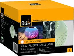 bright light solar cole bright 18420 solar filigree table light white co
