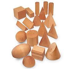 wood geometric learning resources wood geometric solids set of 19 inc learning