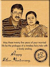 25th wedding anniversary gift buy gifts india 25th silver wedding anniversary gift