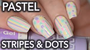 pastel stripes and dots nail art youtube