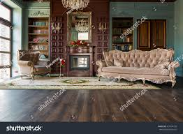 home library luxury interior home library sitting room stock photo 427934728