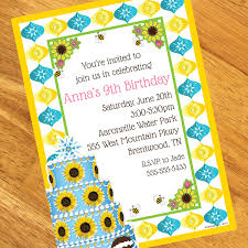 spring fever personalized invitations