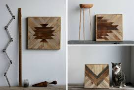 geometric wood wall panels happiness is