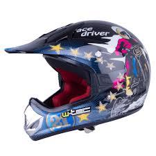 airbrushed motocross helmets junior motorcycle helmet w tec v310 black insportline