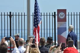 Flying The American Flag With Other Flags American Flag Raised At U S Embassy In Havana Wsj