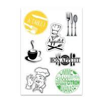 autocollant cuisine mygoodprice planche a4 de stickers cuisine autocollant adhésif