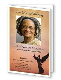 memorial program ideas bifold single fold funeral program templates