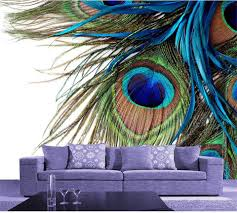 online get cheap mural peacock feather wallpaper aliexpress com custom mural wallpaper room 3d photo wallpaper peacock feather 3d photo painting sofa tv background non