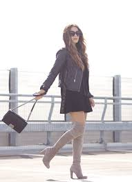 how to wear over the knee boots in fall knee boot stuart
