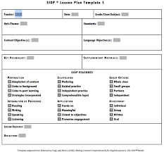 delighted siop lesson template contemporary resume ideas