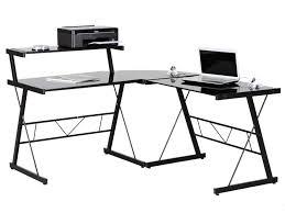 bureau noir verre meubles bureau tables de bureau bureau d angle corner en