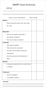 Goals And Objectives Template Excel Smart Goal Template 4 Free Pdf Word Documents Free