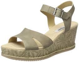clarks women u0027s akilah eden wedge heels sandals amazon co uk