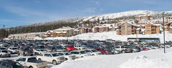 driving to big white day parking is free big white