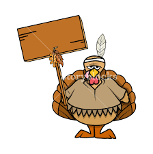 angry turkey bird with blank board royalty free stock image