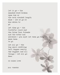 wedding quotes ee e e poetry print let it go the smashed word broken