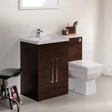 Valencia Bathroom Furniture Valencia Walnut Combination Basin And Wc Unit 1100mm At