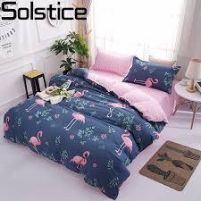 aliexpress com buy solstice cartoon pink flamingo bedding sets 3