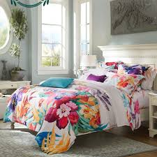 Girls Queen Size Bedding Sets by Girls Carmine Red Yellow Teal And Beige Tropical Colorful Hibiscus