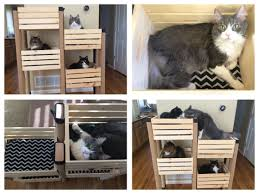 Outdoor Cat Condo Plans by Cat Tree Using Crates From Michaels With A 40 Off Coupon 2x4s
