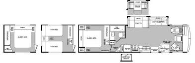 Fleetwood 5th Wheel Floor Plans Used 2000 Fleetwood Rv Bounder 34d Motor Home Class A At General