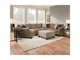 Upholstery Albany Ny Simmons Upholstery 6485 Transitional Sectional Sofa With Wood Legs