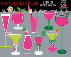 christmas martini christmas clip art christmas digital clipart margarita clipart
