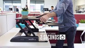Diy Adjustable Standing Desk by Varidesk Height Adjustable Standing Desk 15 Spot Youtube