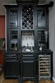 Gray Bar Cabinet Bar Cabinet With Wine Fridge Foter
