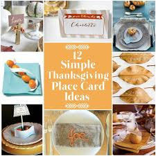 simple thanksgiving place card ideas thanksgiving