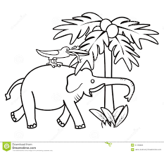 elephant and bird coloring book stock vector image 41169806