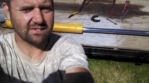 case backhoe hydraulic ram cylinder rebuilding repacking youtube