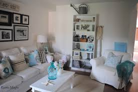 Gray And Turquoise Living Room Rustic Maple Summer Living Room Tour
