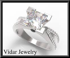 unique princess cut engagement rings princess cut engagement ring with side stones vidar