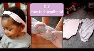 how to make headbands for babies diy no sew knotted headband using onesies