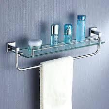 Glass Bathroom Shelf With Towel Bar Black Bathroom Shelf Towel Bar Ideas Cabinet Shelves Small