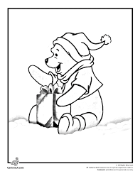 winnie pooh christmas coloring pages coloring