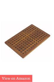 best bath mats rugs 2017 buyers guide reviews the original teak grate bath shower mat